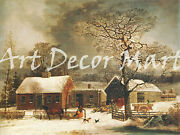 Winter Scene In New Haven - - Canvas Or Print Wall Art