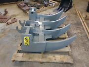 Mini Excavator 36and039and039 Root Rake With Ar400 1and039and039 Tines. Made In Usa