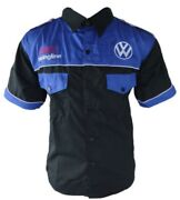 Shirt-chemise Vw Racing Team All Logo In Brodery