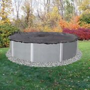 Dirt Defender 8-year 24 Ft Foot Round Above-ground Winter Swimming Pool Cover