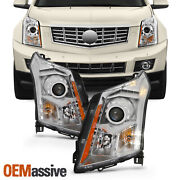 Fits 2010-2016 Cadillac Srx Halogen Projector Headlights Lamps Replacement Pair