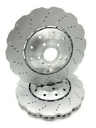 New Genuine Audi Rs6 13-18 Rs7 14-18 390mm Front Brake Discs 4g0615301ah X2