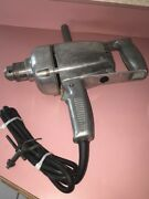 Vintage Ram Corded Electric 1/4 Drill And Key 2000 Rpm Heavy Duty Industrial