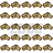 25 Pack 1 Hose Barb Elbow X 1 Male Npt Brass Pipe Fitting Gas Fuel Wog