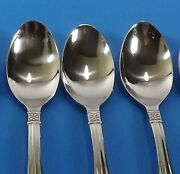 Oneida Memphis Stainless Set Of 6 Teaspoons Flower And Outline-3 Sets Available