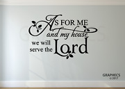 As For Me And My House We Will Serve The Lord Vinyl Decal Sticker Bible Verse