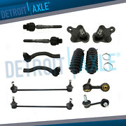 12pc Front Inner Outer Tie Rods And Sway Bars Kit For 2013-2015 Honda Civic Ilx