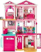 Barbie Dreamhouse 3 Floor Story Doll House Furniture Home Kids Girls Play Toys