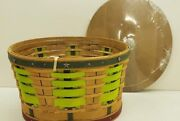 Longaberger 2016 Cc Collectors Club Pine Forest Basket Combo New Retired