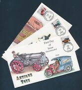 3627-3629 Antique Toys On 3 Diff Collins Fdc Cachets July 262002 Bu4396