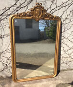 Louis Philippe Mirror With Gold Leaf Frame Cimasa - Restored In Progress