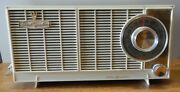 1950and039s Vintage Ge Am Tube Radio Dual Speaker In Working Condition