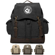 Jeep Donand039t Follow Me You Wont Make It Rucksack Backpack With Leather Strap Olive