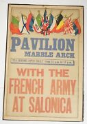 Rare Wwi Pavilion Marble Arch Newsreel Poster 1915 Uk Salonica Campaign 21 X 31