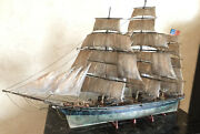 Vintage Model Ship With Realistic Rustic Look