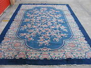 Antique Art Deco Chinese Rug Fette Type Hand Knotted Wool Ca.1930 11x15.8 8201