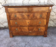 Empire Dresser In Walnut And Walnut Feather - To Be Restored