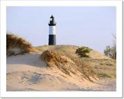 Big Sable Point Lighthouse In Dunes Art Print Home Decor Wall Art Poster - H