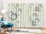 Lively Circles 3d Curtains Blockout Photo Printing Curtains Drape Fabric
