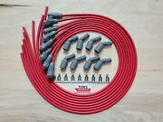 42 Msd 8.5mm Lsx Ls1 Universal Unassembled Grey Gray Spark Plug Boots Wires Red