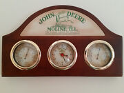 John Deere Wall Clock With Thermometer And Hydrometer