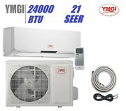 Ymgi 24000 Btu 21 Seer Ductless Mini Single Zone Split Air Conditioner Jqo