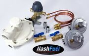 Heavy Duty Automatic Changeover Propane System Home Supply Regulator Two Tanks