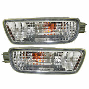 New Depo Driver And Passenger Side Turn Signal Light Set For 01-04 Toyota Tacoma