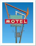 Antique Neon Sign On Old Route 66. Art Print Home Decor Wall Art Poster - D