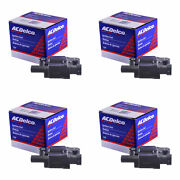 Set Of 4 Acdelco Ignition Coil Bs-c1511 For Cadillac Chevrolet Gmc Cts 05-16