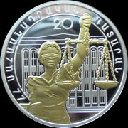 Armenia 1000 Dram Coin 2015 The 20th Anniversary Of The Constitutional Court