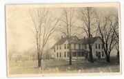 Rppc Fuller House Hotel Shelby In Indiana Vintage Real Photo Postcard