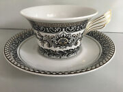 Rosenthal Meets Versace Marqueterie Tea Cup And Saucer New