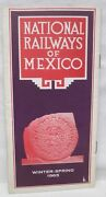 National Railways Of Mexico Winter Spring 1965 Map Booklet Brochure Timetable