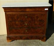 Antique Dresser With Four Drawers In Walnut - Restored
