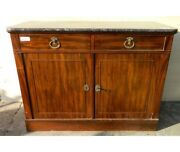 Antique Sideboard Charles X In Mahogany - Restored