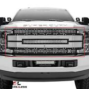 T-rex 6315495 Torch-al Serie Main Grille W/led Lightbar For 17-18 F-250/f-350 Sd