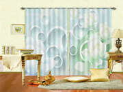 Milky White Circles 3d Curtains Blockout Photo Printing Curtains Drape Fabric