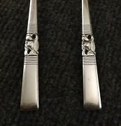 Oneida Community Morning Star Lot Of 4 Gumbo Spoons Silverplate-2 Sets Available