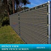 Ifenceview 3and039x1and039-3and039x100and039 Brown Fence Privacy Screen Mesh Fabric Garden Outdoor