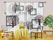 Paper Cutting Trees 3d Curtains Blockout Photo Printing Curtains Drape Fabric