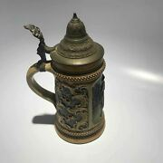 Vintage 8.25 German Lidded Beer Stein Mold 1239 - Free Shipping Usa
