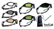 Bolle Tracker Ii Safety Glasses Goggles Spectacles And Free Pouch Bag