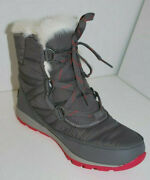 Sorel Whitney Short Lace Womenand039s Boots Nl2776/053 Quarry/bright Rose New