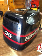 97 Evinrude 35 Hp 2 Stroke Outboard Hood Top Cowl Cowling Shroud Freshwater Mn