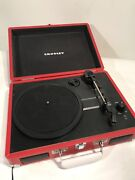 Crosley Cr8005a-re Cruiser Portable Turntable, Red Nice Phonograph W/speakers