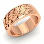 Vintage Inspired Menand039s Wedding Anniversary Band/ring 14k Rose Gold-8.5mm Width
