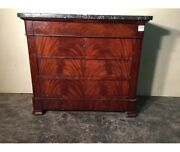 Antique Dresser In Mahogany Feather From Piedmont Small Size - Restored