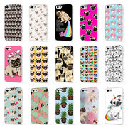 Pug Dog Puppy Pattern Cute Girly 4 White Phone Case Cover For Iphone 5 6 7 8 X