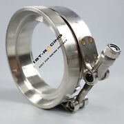 Universal Gt45 Turbocharger Exhaust Downpipe 4.25 V-band Clamp + 3.25 Flange